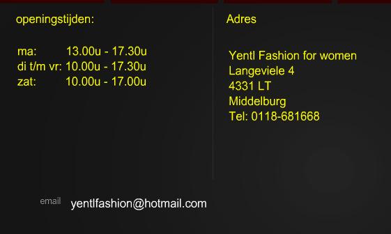 Yentl fashion Middelburg